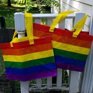 Lot 2 IKEA  Rainbown Pride design of Kvanting Bags